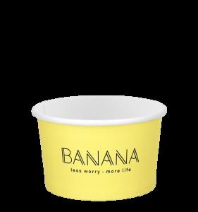 Banana ice cream cup