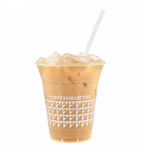 Coffee Collective branded takeaway iced coffee cup