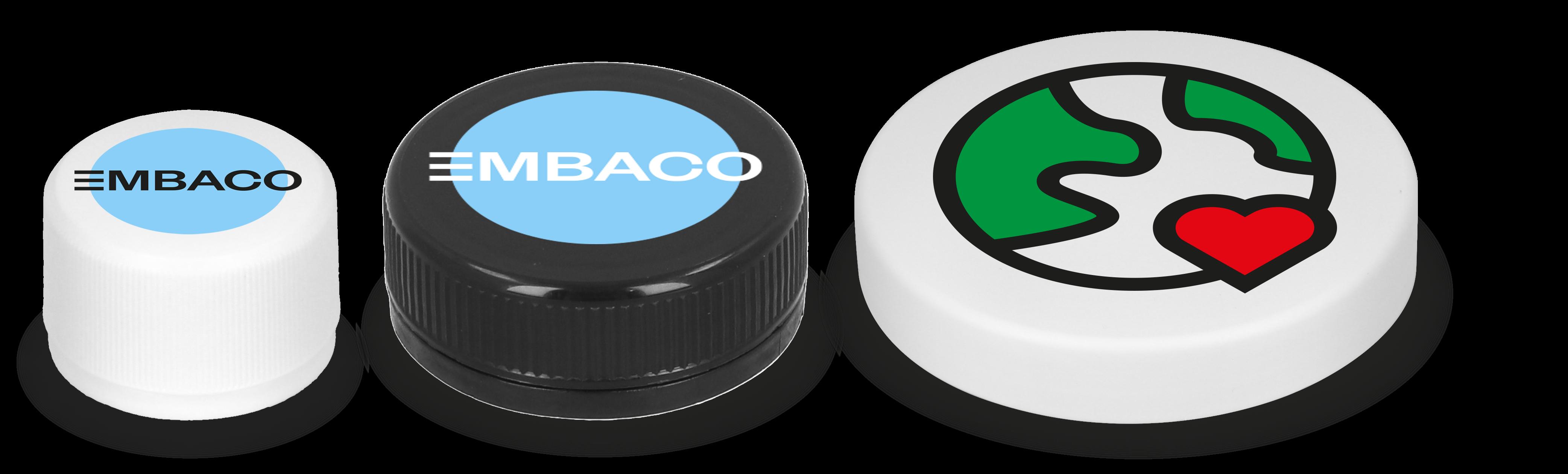 EMBACO custom designed and printed cap, lids and closures
