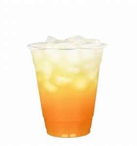 Frankly juice in a glass with ice